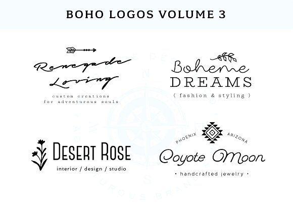 Boho Logo Templates Vol. 3 by Wild Side Design Co. on @creativemarket