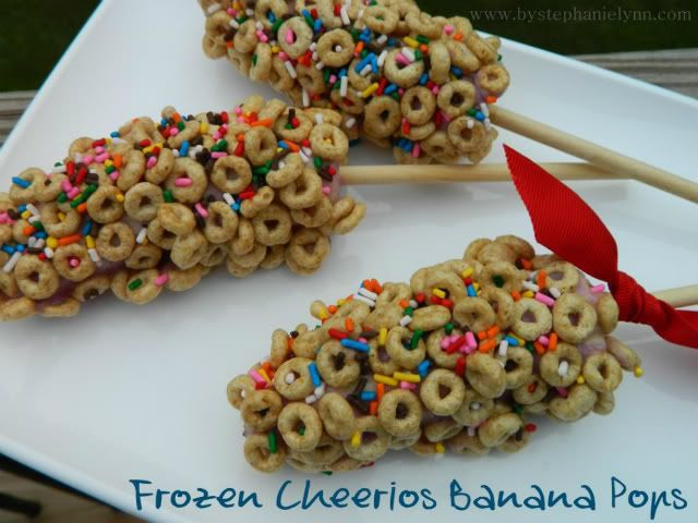 Frozen Cheerio Banana Pops. However, for breakfast I thought this ...