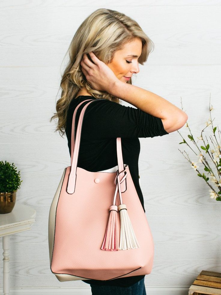 The Weekender Tote - Blush/Ivory