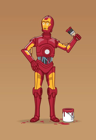 Iron Droid /by See Mike Draw #StarWars #art #print #nerdy $19
