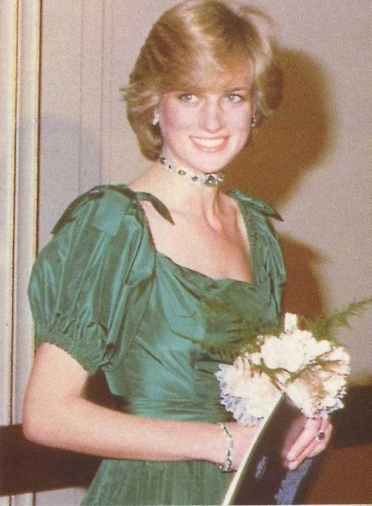 October 28, 1981: Princess Diana at a gala concert at Brangwen Hall Swansea in Wales.
