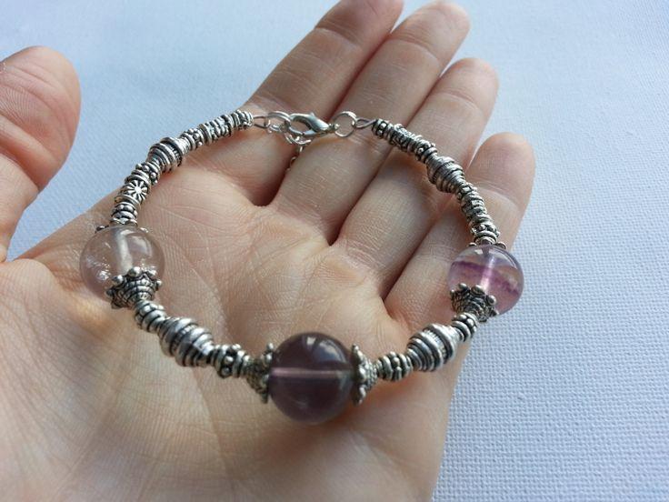 Clear  Fluorite Bracelet by lovemeknottbilton on Etsy, $10.00 #fluorite #bracelet #etsy #boho #fashion