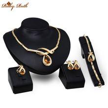 šperky sady módní křišťálové svatební svatební africké náhrdelník metání šperky Dubaj sieraden ženy1 pozlacené pozlacený set 2017 (Čína (pevninská část))