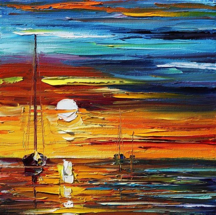 leonid afremov pintura tinta oleo espatula