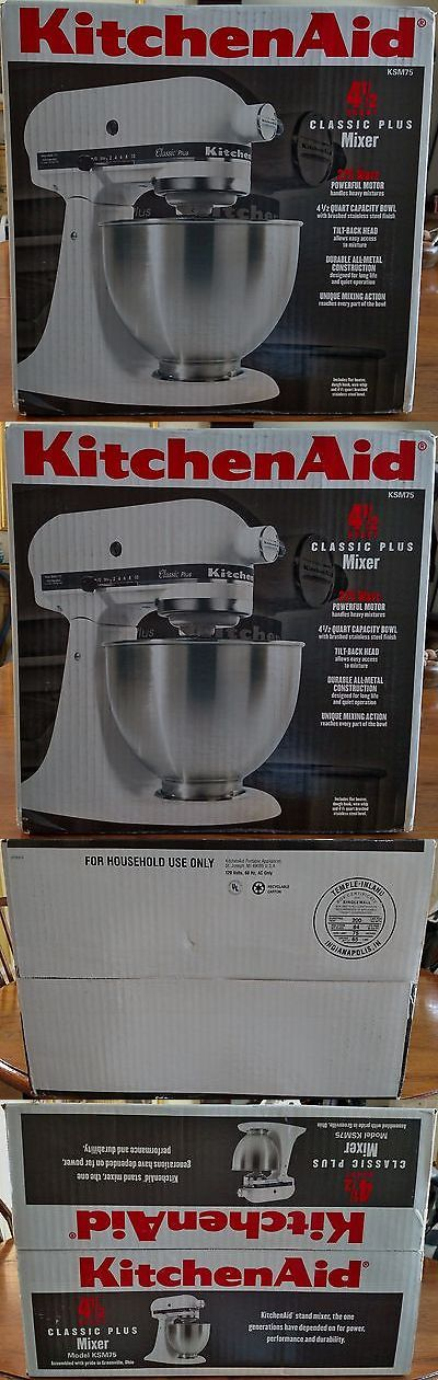 Small Kitchen Appliances: Kitchenaid Classic Plus Stand Mixer W/ Stainless Steel Bowl, 4.5-Qt., White BUY IT NOW ONLY: $168.0