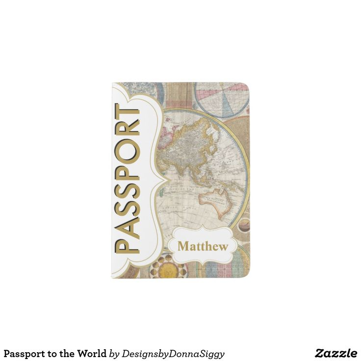 "PASSPORT HOLDER. . . ""Passport to the World""  Featuring a Passport to the World Map with DIY text.. . . For LOTS MORE World Map Passports see my board . . . . . . or for EVEN MORE - Click Visit to find the whole collection."