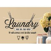 Found it at Wayfair - Deco Laundry Quote Wall Decal