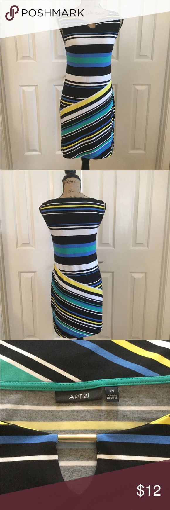 Apt 9 Striped Bodycon Dress XS The perfect dress to wear to the office.  It's very figure flattering and can transition easily from work to play. Apt. 9 Dresses
