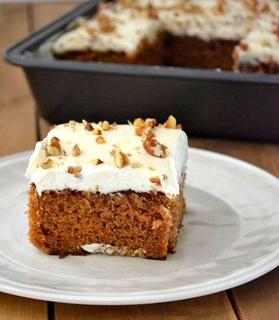 Old Fashioned Carrot Sheet Cake Recipe