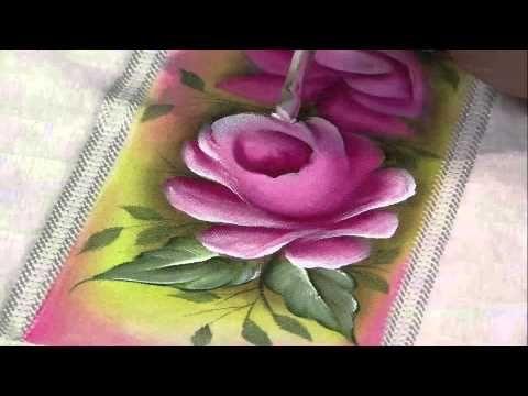 Mulher.com 15/03/2013 Luciano Menezes - Pintura em tecido rosas  parte 2