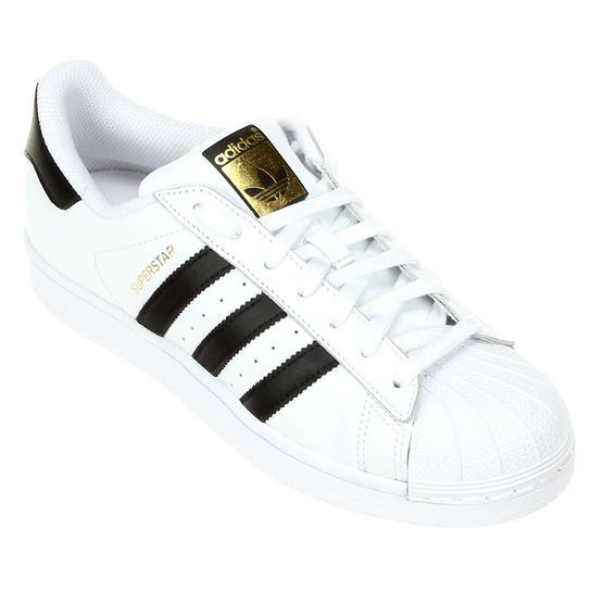 Tênis Adidas Superstar Foundation - Branco+Preto