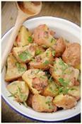 Warm potato salad with BACON