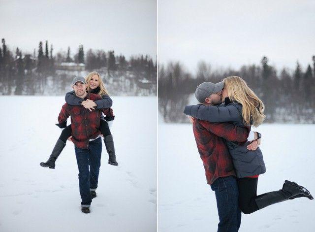 Foggy Winter Engagement Photos in Anchorage http://www.ericaroseblog.com