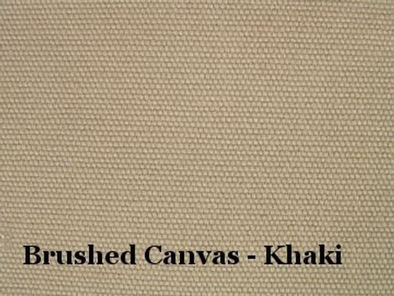 Soft Canvas Fabric Brushed Cotton Sanded Duck Khaki Brown Home