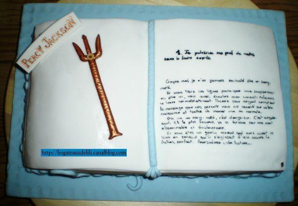 2012 12 15 - Gâteau Percy Jackson
