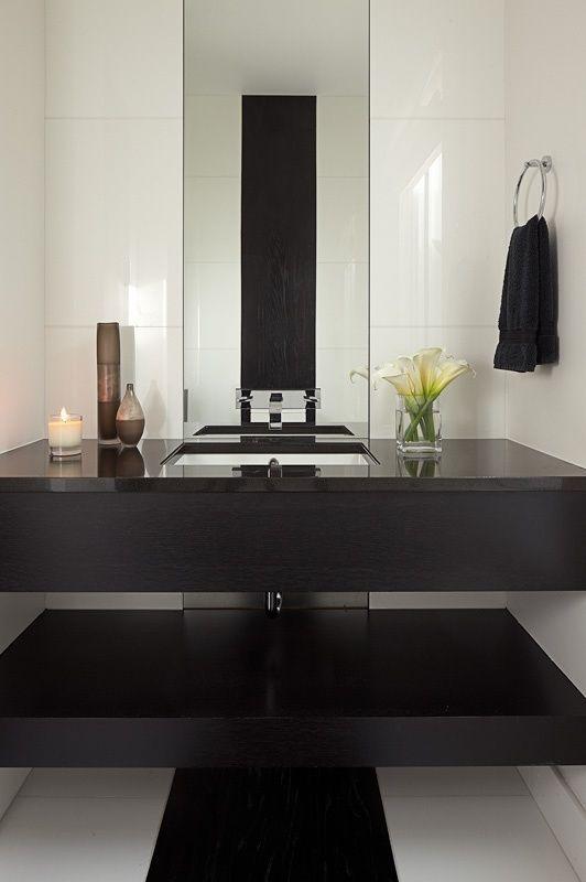 espelhos para banheiros 55 fotos lindas g ste wc badezimmer und badewannen. Black Bedroom Furniture Sets. Home Design Ideas