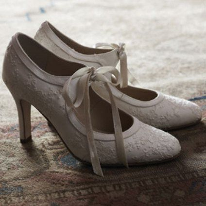 adorable 1920's style shoes that are perfect for adding some vintage flare to your big day!