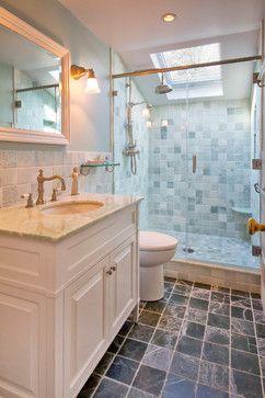 Small Bench Ledge Charming Cape Cod Renovation Traditional Bathroom New York