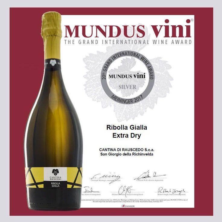 Un'alto premio meritato va al RIBOLLA GIALLA EXTRA DRY a marcare la qualità e l'eccellenza dei vini Italiani che, si aggiudica la medaglia d'argento europea. Il riconoscimento premia ancora una volta CANTINA RAUSCEDO sul podio tra i migliori vini d'Europa.