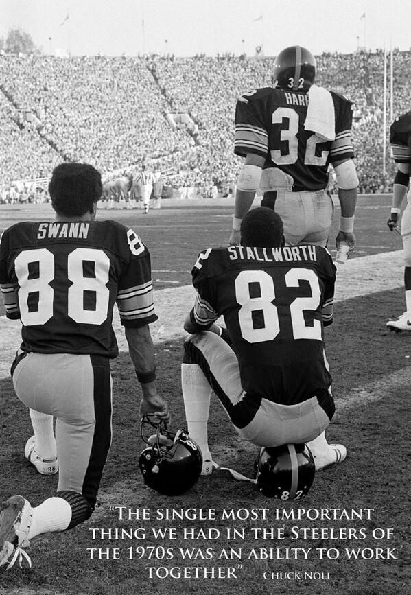 Hall of Famers Lynn Swann, John Stallworth and Franco Harris, Super Bowl XIV (1980)