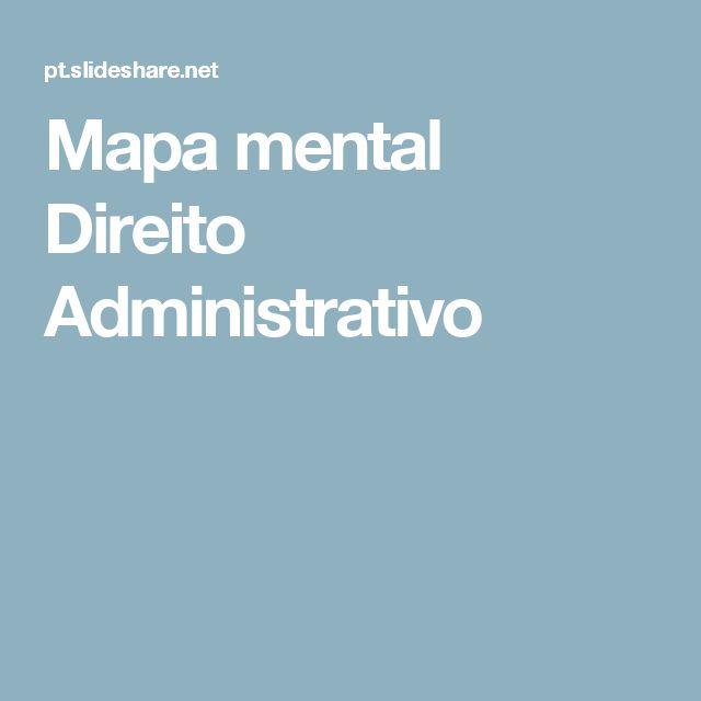 Mapa mental Direito Administrativo