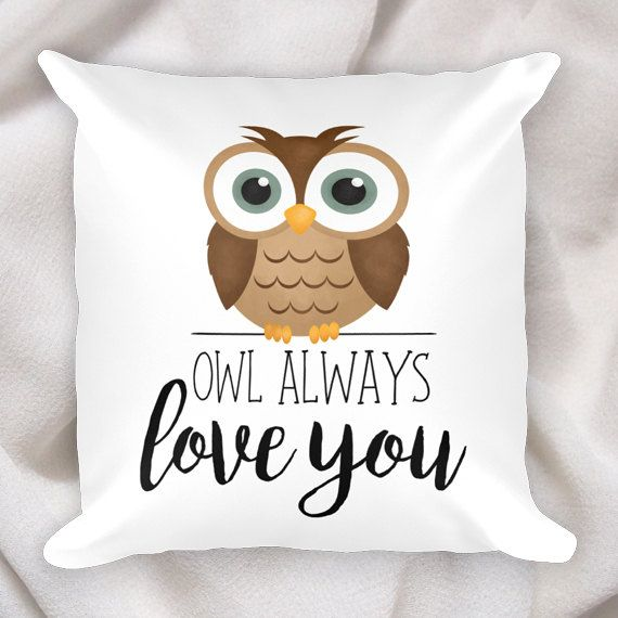 Owl Always Love You  18x18 Square Pillow Case With by ALittleLeafy