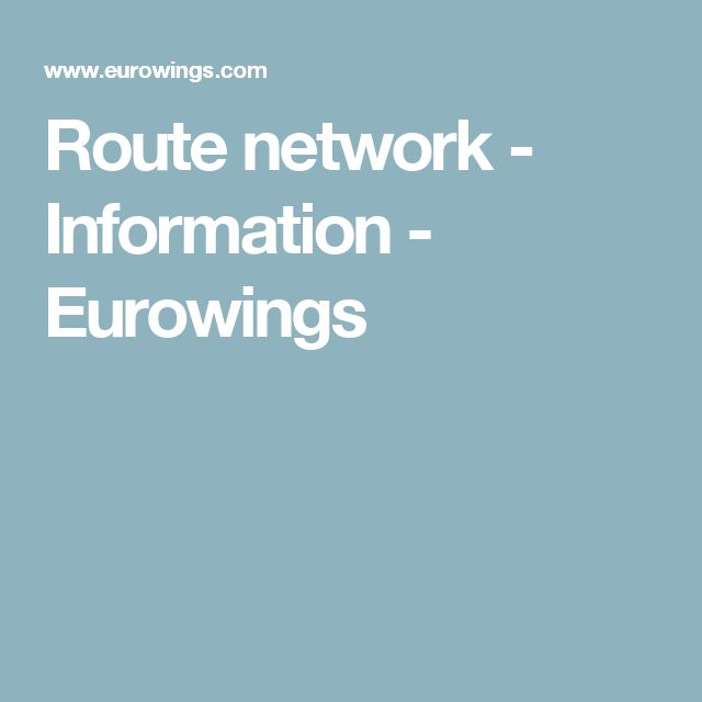 Perfect Route network Information Eurowings Karlsruhe Baden Baden
