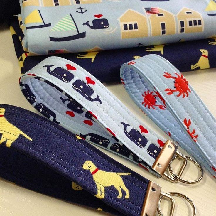 Keychain Wristlet, Key Chain, Wristlet, Key Fob Wristlet, Key Fob, Wristlet Key Chain, Nautical Keychain, Whales, Gift for Her, Key Lanyard by SewCapeCod on Etsy https://www.etsy.com/listing/498909536/keychain-wristlet-key-chain-wristlet-key