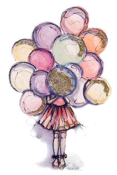 happy birthday drawings for girls - Pesquisa Google