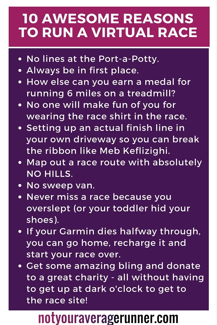10 awesome reasons to run a virtual race!