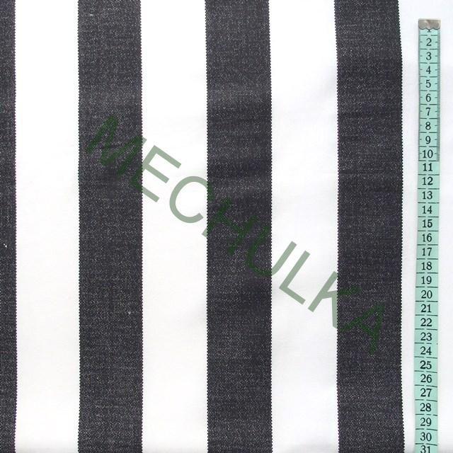 Černo-bílé pruhy / široký proužek - látka - pruhovaná metráž - bavlna