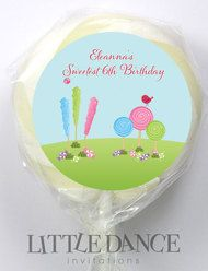 Candyland Party Favours Personalised Lollipops.