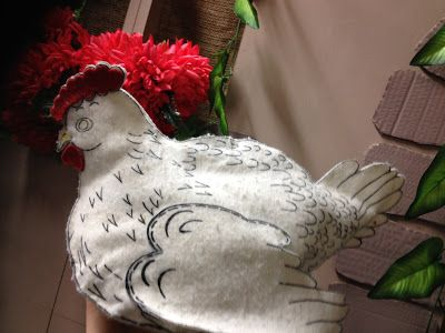 Faith and Felt Obsession: Chicken in a Manger - Two Versions
