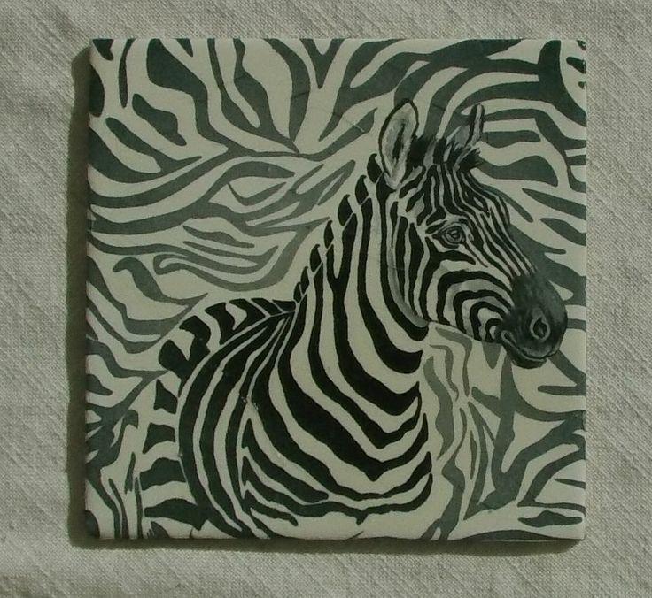 """Bild, Geschenk, Muttertag """"Zebra"""""""