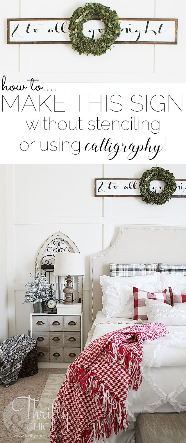 DIY Wood Christmas Sign No Stenciling Or Calligraphy Needed