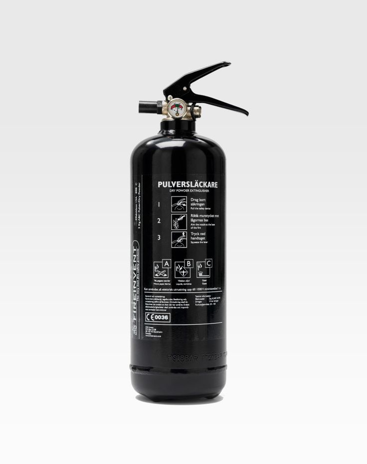 Fire Extinguisher 2kg Black | FireInvent