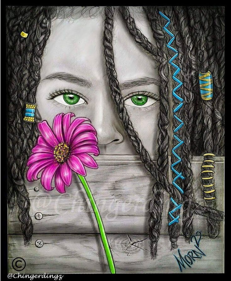 """""""Flower Child""""  Prints available soon www.JustNature.com  SC: mornmosleyii    #art #artist #drawing #artwork #color #accents #realism #flowerchild #sketch #sketching #draw #drawing #pencildrawing #painting #digital #chingerdingz #arte #blackandwhite #photo #hippie #flower"""