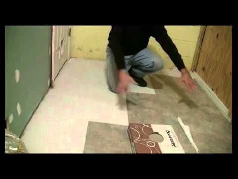 ▶ How To Tile Concrete Floors With Self Adhesive Vinyl Tiles - YouTube