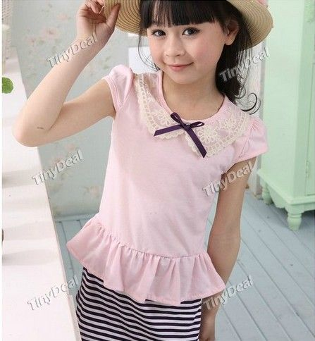 www.tinydeal.com/es/Patchwork-Striped-Cotton-Casual-Dresses-for-Kids-Children-Girls-p-99837.html:Patchwork Striped Cotton Casual Dresses for Kids Children #Girls: