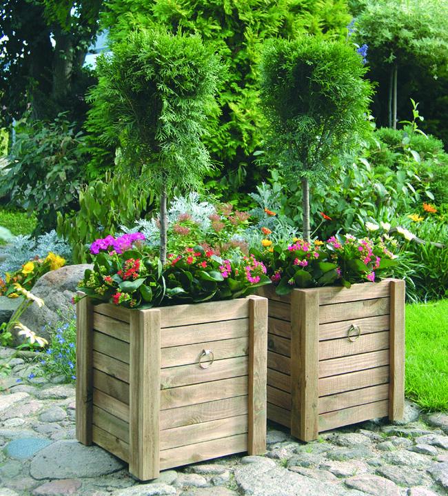 Fioriere in legno fioriere fioriera fioriere da esterno - Costruire veranda in giardino ...