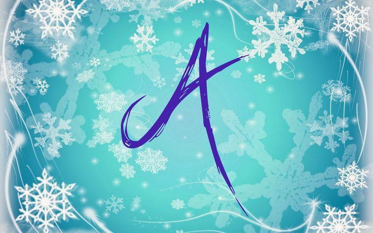 Alfabeto nevando tipo Frozen. - Oh my Alfabetos!