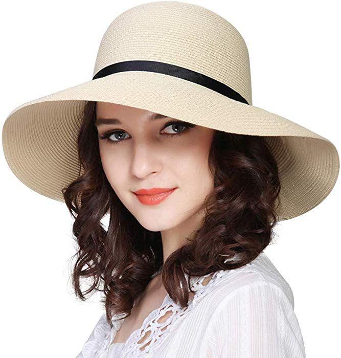 Sun Hats For Women Strafurtalk Women Wide Brim Sun Hat Summer Beach Cap Upf50 Uv Packable Straw Hat For Tra Hats For Women Sun Hats For Women Wide Brim Sun Hat