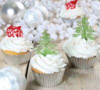 Isomalt Kerst cupcakes - Cupcakes - Recepten | Deleukstetaartenshop.nl