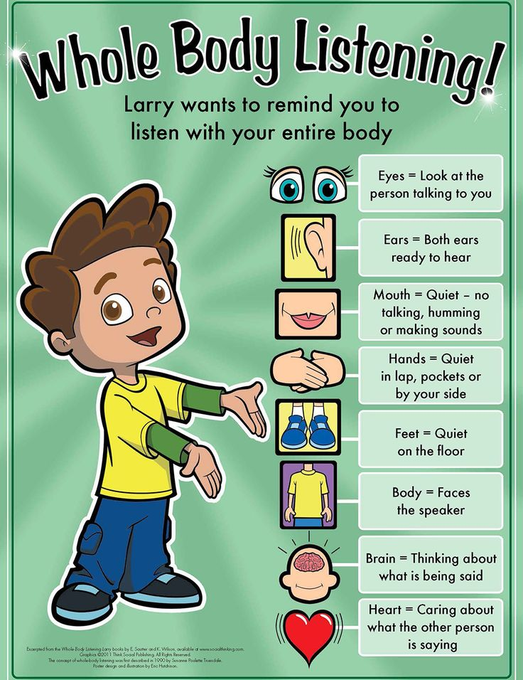 Socialthinking - Whole Body Listening Larry at School!