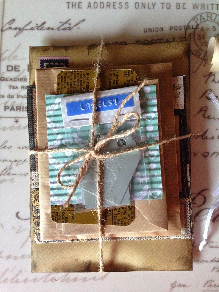 Post met liefde gemaakt! snail mail, pakketje, cadeautje, inpakken, vintage, labels, tags, kraft, mintgroen, kleuren snail mail, wens snail mail