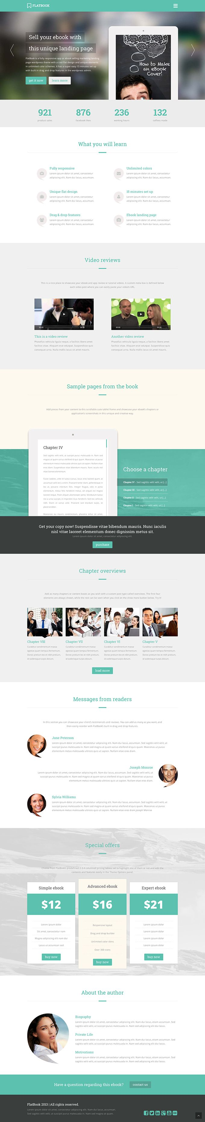 FlatBook - a marketing theme for WordPress