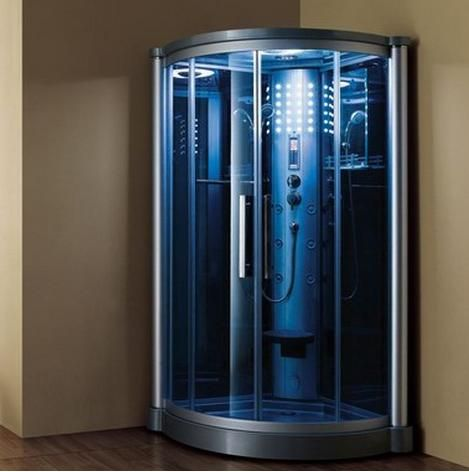 The Ariel 801L Steam Shower unit include stylish blue tempered glass for a modern look in your bathroom remodel. This steam shower model also comes with six body massage jets, handheld shower head, rainfall ceiling shower and a 3KW steam generator.