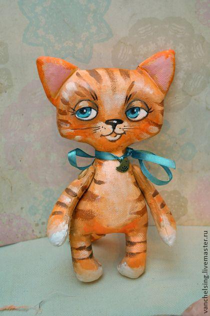 Милашки - коричневый,котик,сувенир,малыш,текстильная игрушка,хлопок,акрил