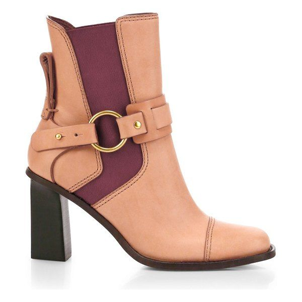 See By Chloe Alexis Square Toe Leather Ankle Boots Leather Ankle