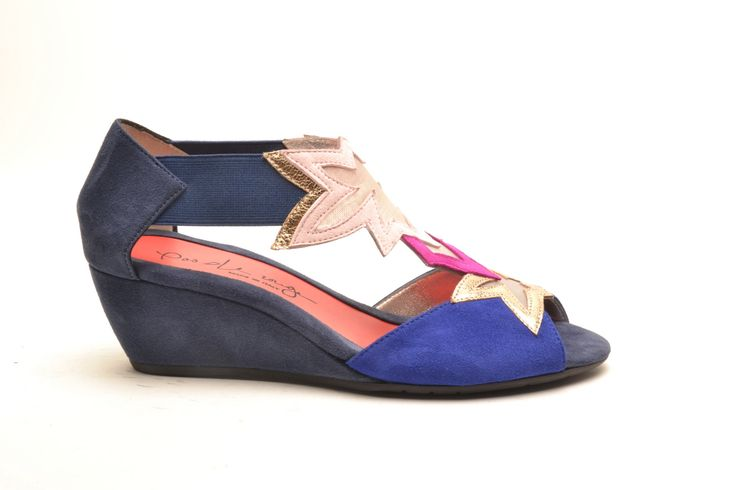 #pasderouge #shoes #summer #suede #wedge #stars #colors
